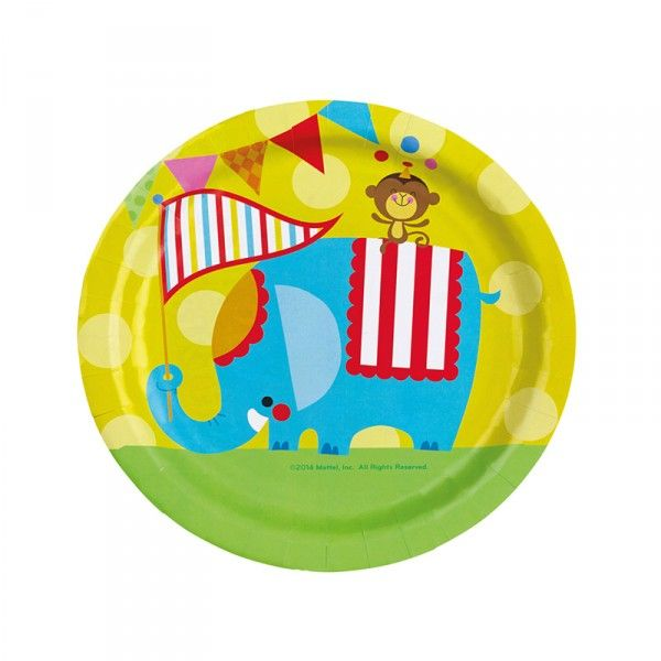 Pappteller Zirkus, ø 23cm, 8 Stück