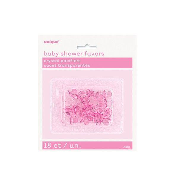 Deko Schnuller pink, 18 St
