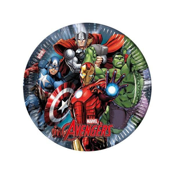 T1142323-Pappteller-Avengers-Power-23cm-8-Stueck