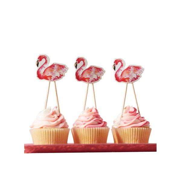 Partypicker Flamingo, 8 Stück