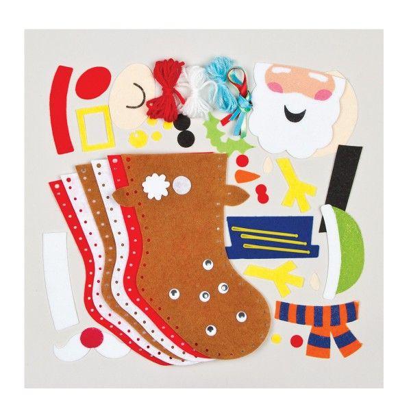 Nähset Weihnachtsstrümpfe zum Selbsgestalten, 3 Stück im Set, Socken X