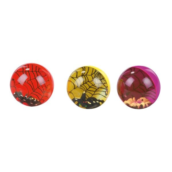 Flummi Spinne, ø 6,5cm, farbig sortiert, 1 Stück