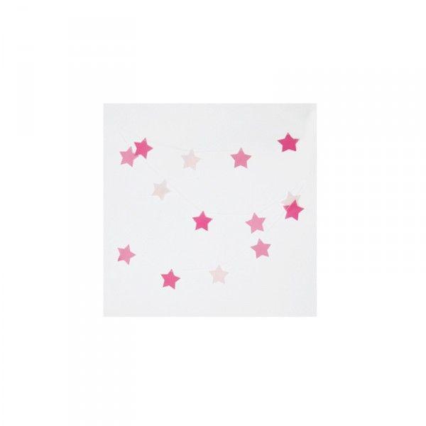 Girlande Sterne, pink, 3m