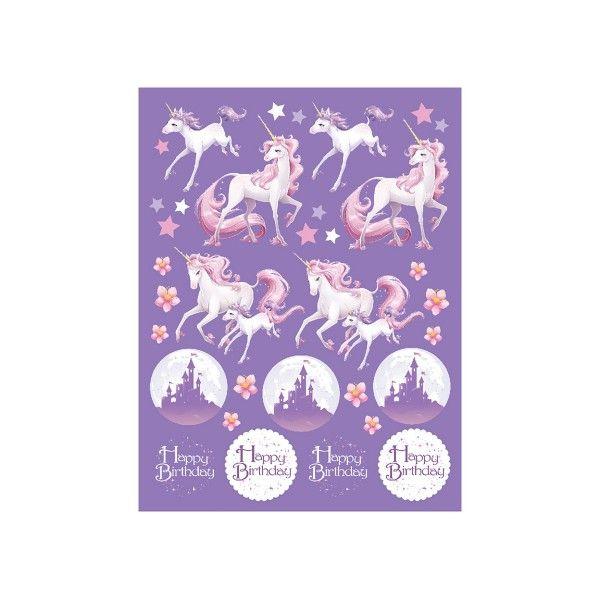 Einhorn Sticker, 4 St