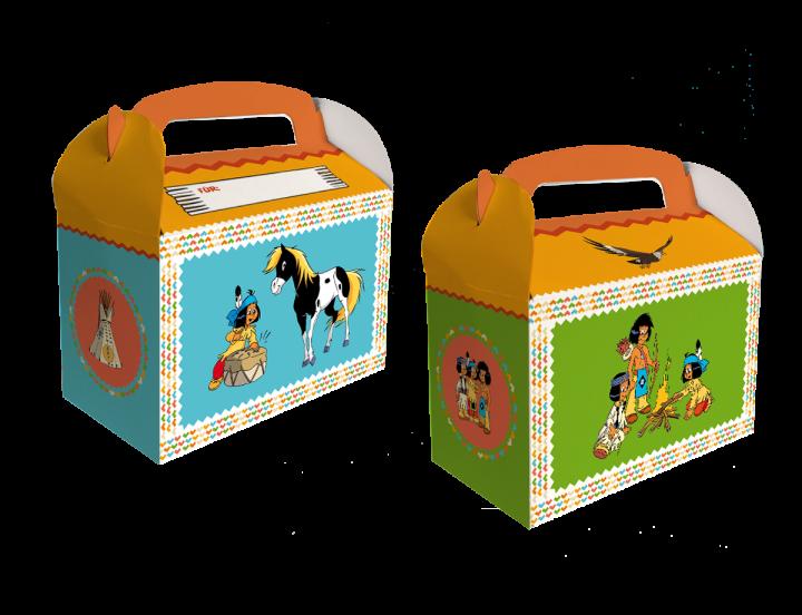 Geschenkboxen Yakari, 15x8x9,5cm, 6 Stück
