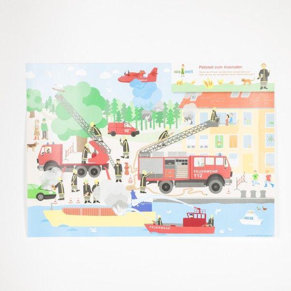 Tischsets Feuerwehr, 6 Stück