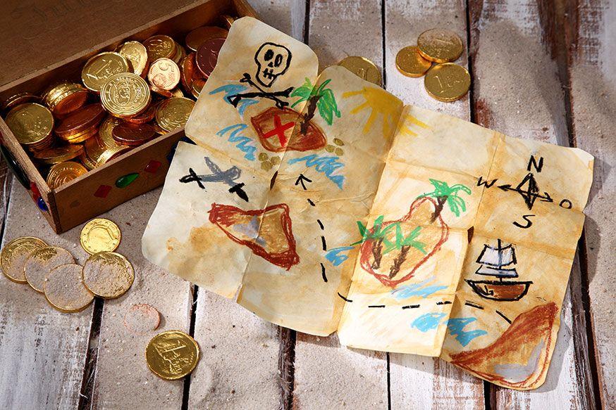 Jeder Pirat braucht eine Schatzkarte. • Umsetzung und Foto: Thordis Rüggeberg