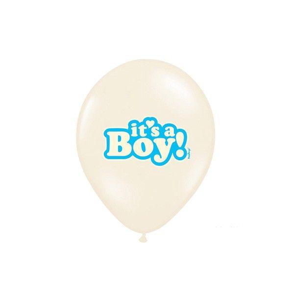 T1142525-Luftballons-Its-a-boy-pastell-hellblau-creme-6-Stueck-1