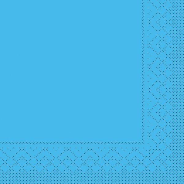 Servietten Aquablau, 33cm, 20 Stück