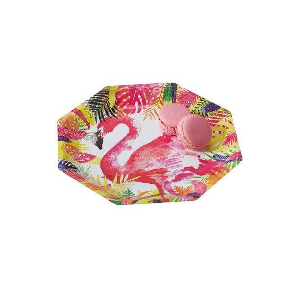Pappteller Flamingo,ø 25cm, 8 Stück