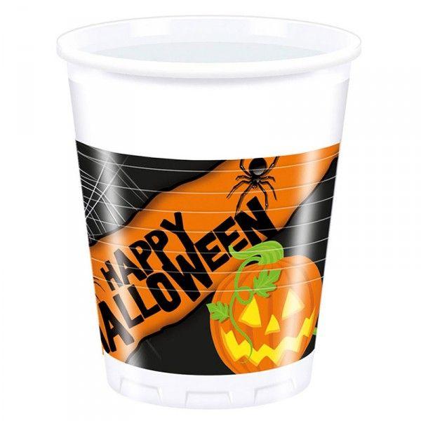 Trinkbecher Halloween, 200ml, 8 Stück