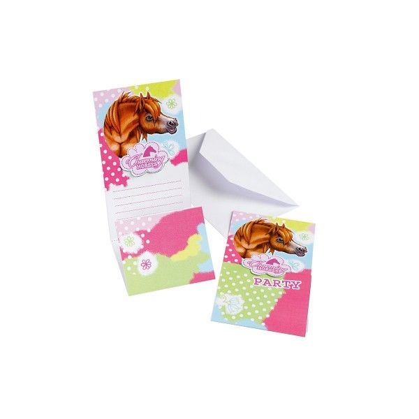 T1142140-Einladungskarten-Pferd-Charming-Horses-6-Stueck