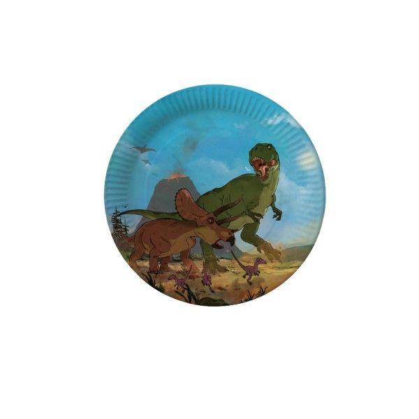 Pappteller Dino, ø 26cm, 8 Stück