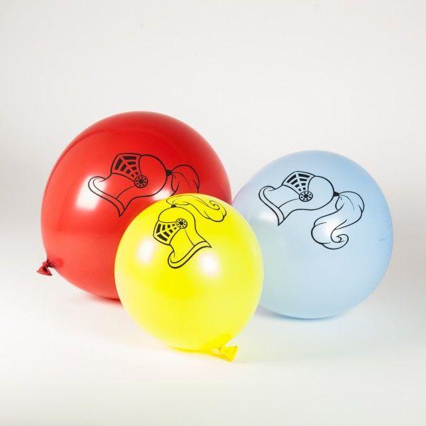 Luftballons Ritter & Drache