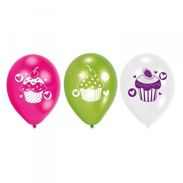 Luftballons Cupcakes, 6 Stück