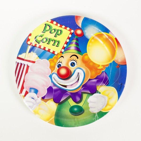 Pappteller Zirkus, Ø 17cm, 8 Stück