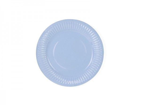 Pappteller Pastellblau, Ø 18 cm, 6 Stück