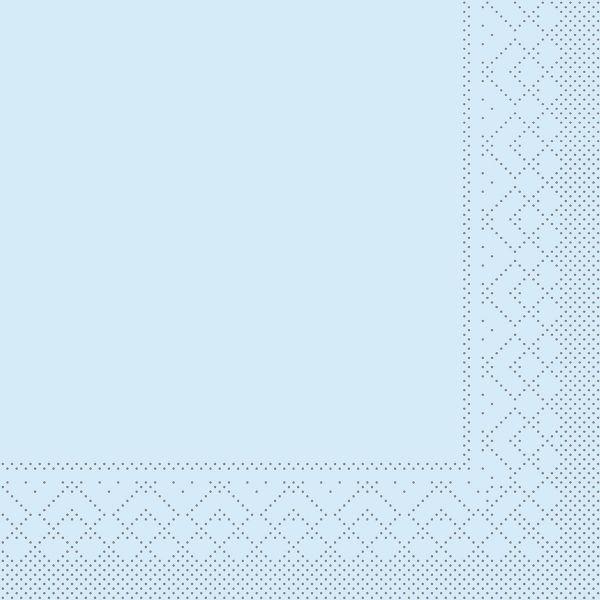 Servietten Hellblau, 33cm, 20 Stück