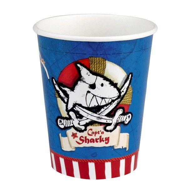 Capt'n Sharky Pappbecher, ca. 9,5cm,