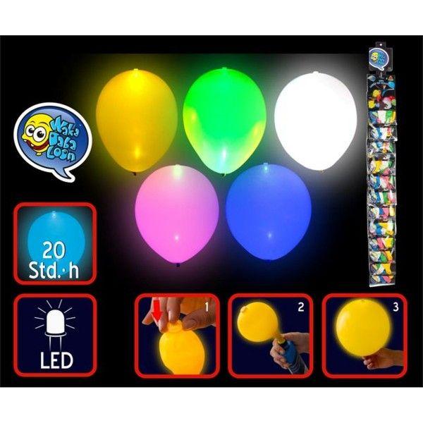 LED Luftballons, ø 23cm, 5 Stück