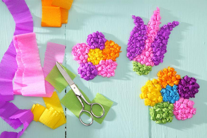 Bunte Blumenblüten für kleine Feen. • Umsetzung und Foto:Thordis Rüggeberg