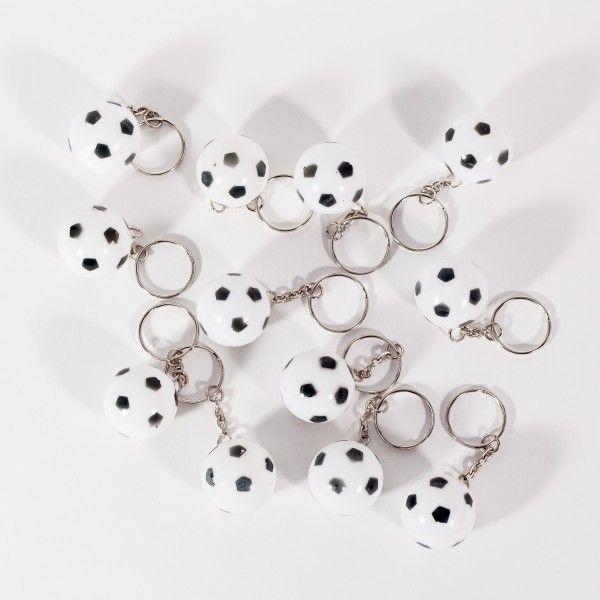Schlüsselanhänger Fussball, 12 Stück