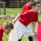 Fussballgeburtstag-Spiel-Aufwarmphase
