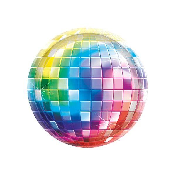 Pappteller Disco, ø 18cm, 8 Stück
