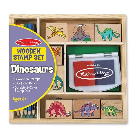 Stempel Set Dinosaurier