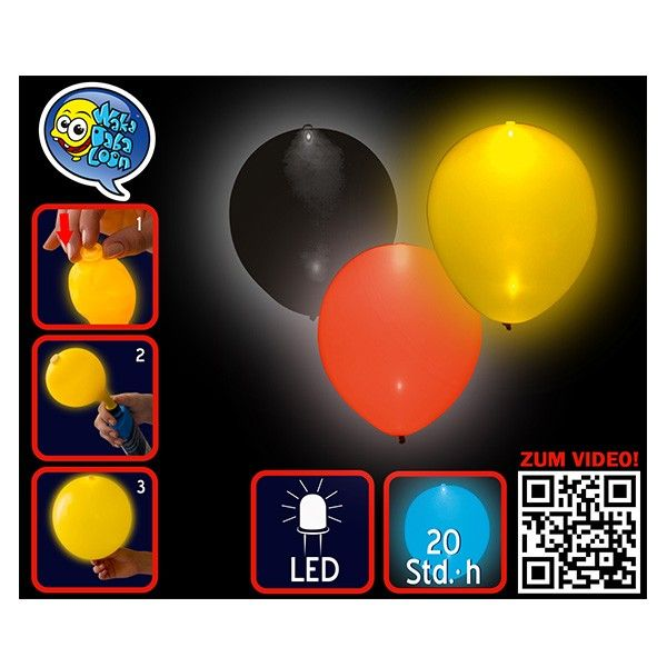 LED Luftballons Deutschland, 3 Stück