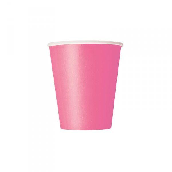 Pappbecher Pink, 8 Stück