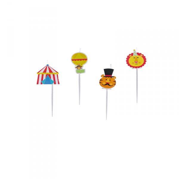 Minikerzen Zirkus, 4 Stück