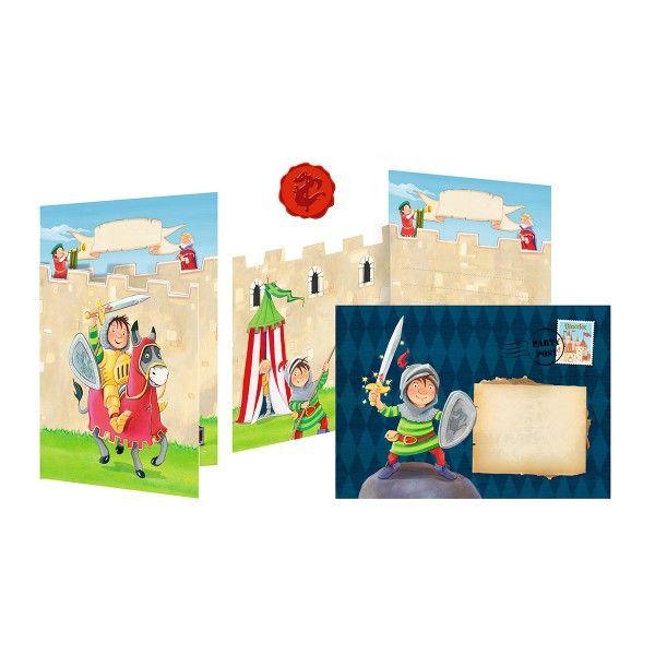 Einladungskarten Ritter Vincelot, ca. 15x10,5cm, 8 Stück