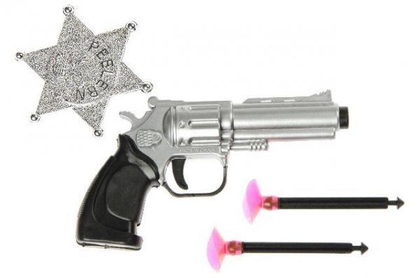 Revolver und Pfeile mit Sheriffstern, 4-teilig