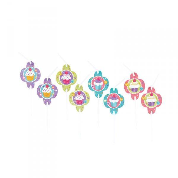 Strohhalme Cupcakes, 8 Stück
