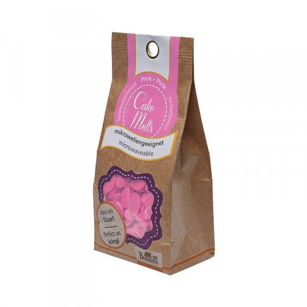 Cake Melts, pink, 250g Beutel