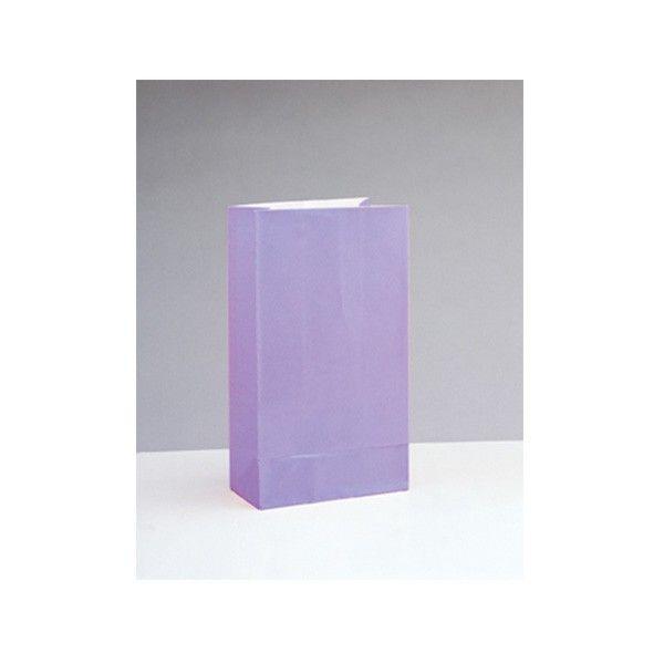 Partytüten aus Papier, lavendel/lila, 12 Stück