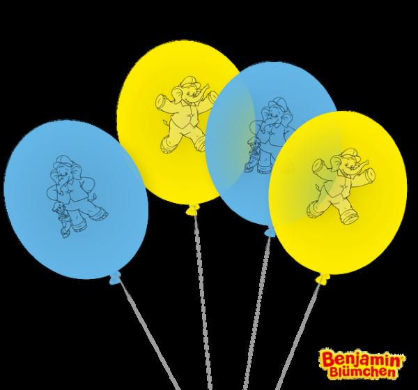 Luftballons Benjamin Blümchen, 8 Stück