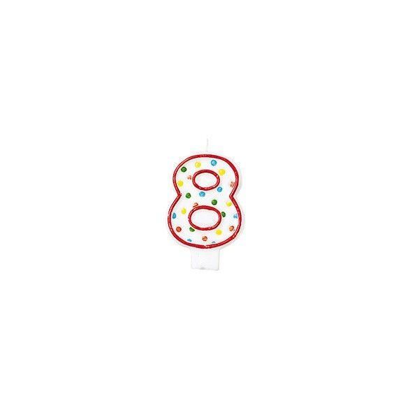 Zahlenkerze 8