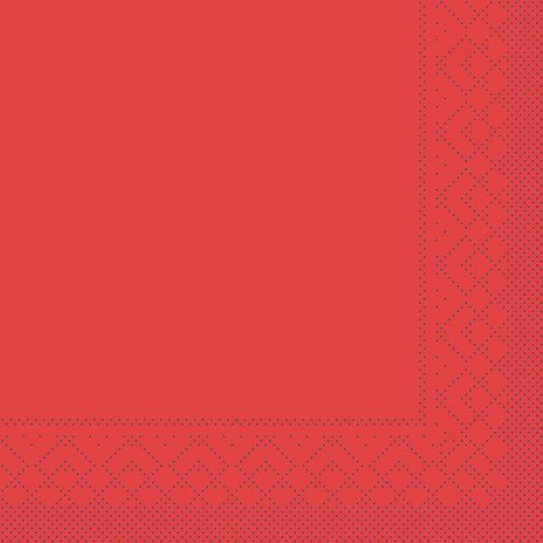 Servietten Rot, 33cm, 20 Stück