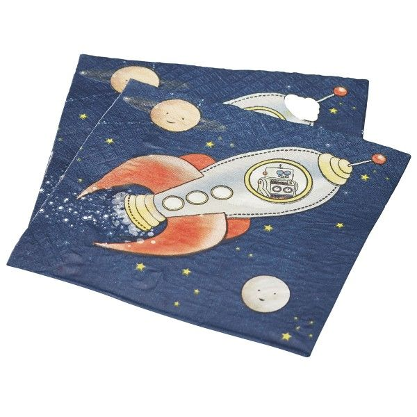 Servietten Weltraum, 16,5cm, 20 Stück
