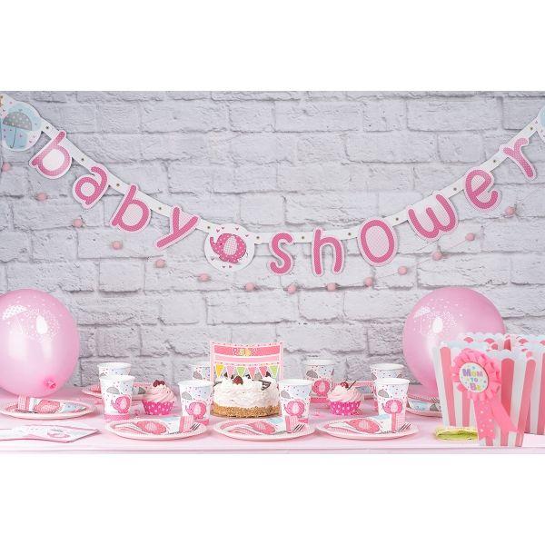 Babyshower Mottobox für Mädchen - 96-teilig