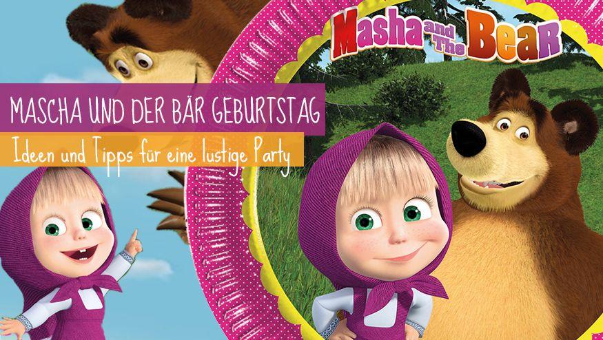 Hier gibt's tolle Tipps und Ideen für den Mascha und Bär Kindergeburtstag.