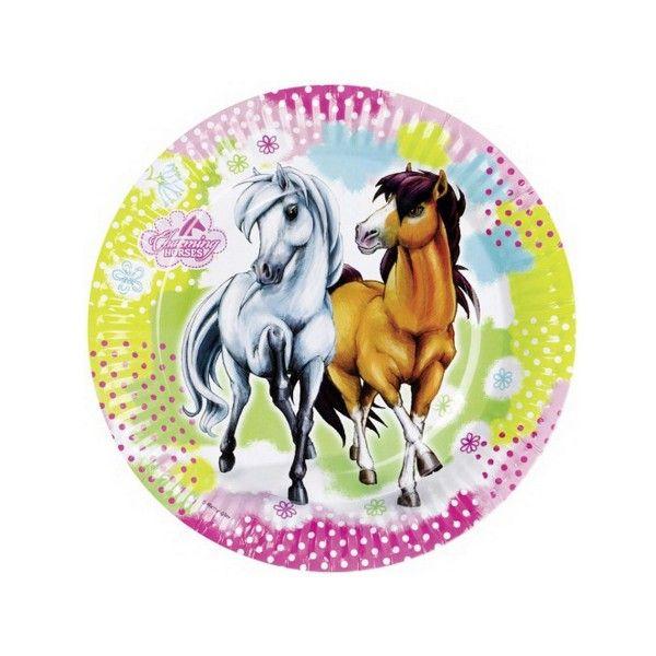 T1142133-Pappteller-Pferd-Charming-Horses-23cm-8-Stueck