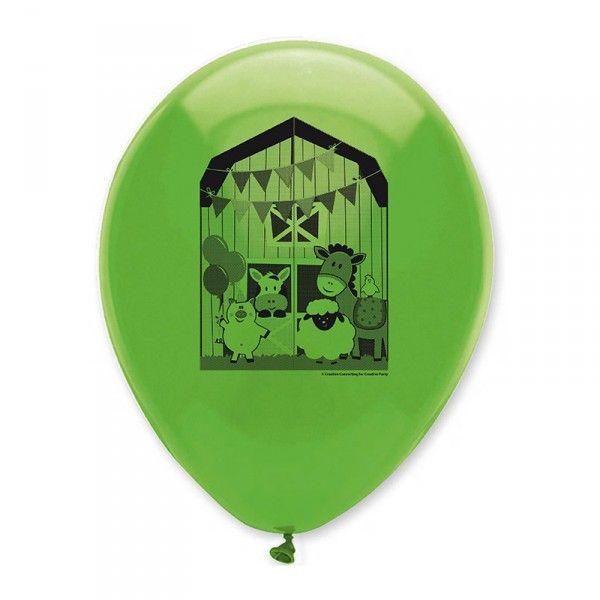 Luftballons Bauernhof, 6 Stück
