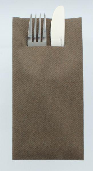 Besteckservietten Braun, 40cm, 12 Stück