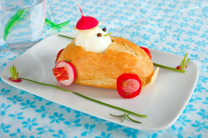 Ein schnelles Rennbrötchen für hungrige Geburtstagskinder! • Foto: rainbow33 / Fotolia.com