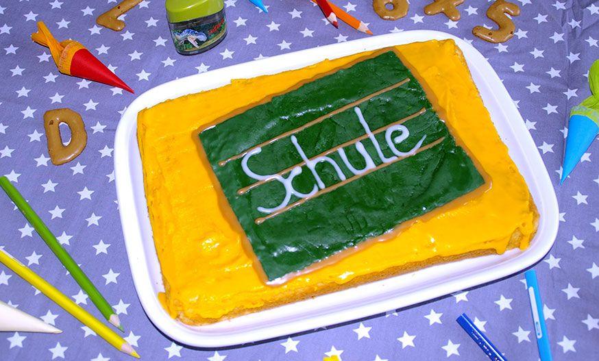 Ein leckerer Kuchen zur Einschulung.