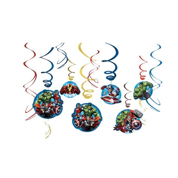 T1142219-Deko-Spiralen-Avengers-12-Stueck