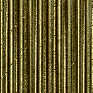 Strohhalme aus Papier, Gold, 10 Stück